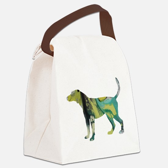 Funny English foxhound Canvas Lunch Bag