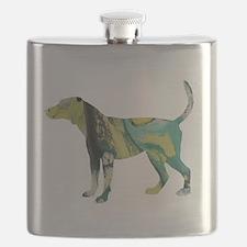Funny English foxhound Flask