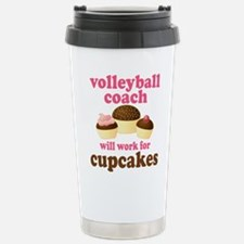 Funny Physician assistant will work for cupcakes Travel Mug