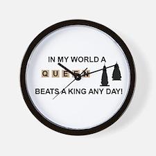 Scrabble Queen Wall Clock