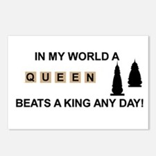 Scrabble Queen Postcards (Package of 8)