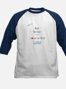 Rat Terrier Lick Kids Baseball Jersey