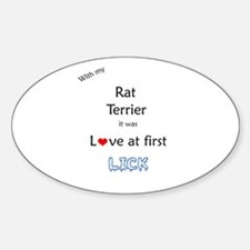 Rat Terrier Lick Oval Decal