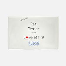 Rat Terrier Lick Rectangle Magnet