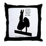 Gymnastics Throw Pillow - Ftbl
