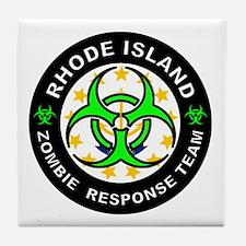 RI ZRT Green Tile Coaster