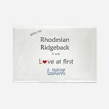 Ridgeback Lick Rectangle Magnet