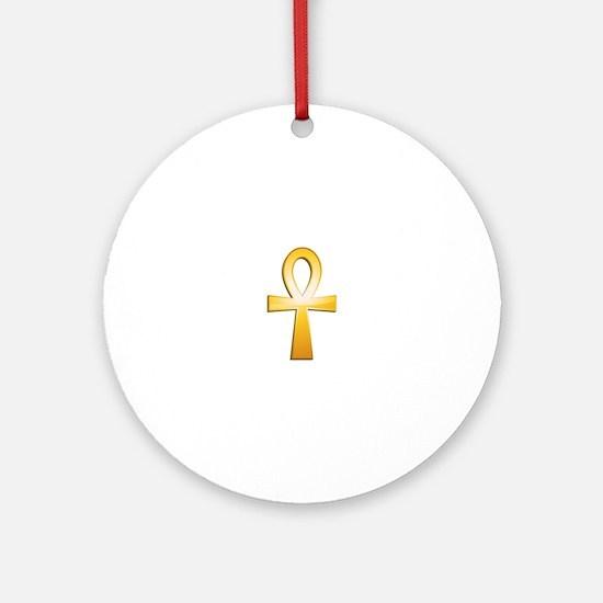 Ankh-Symbol Round Ornament