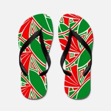 Xmas Abstract Flip Flops