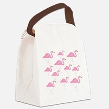 Flamingo Canvas Lunch Bag