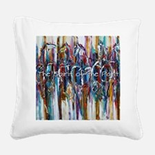Funny Horses Square Canvas Pillow