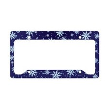 Midnight Snowflakes License Plate Holder