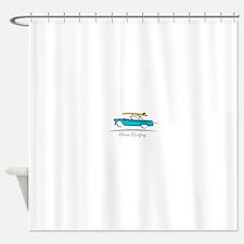 Ford Thunderbird Gone Surfing Shower Curtain