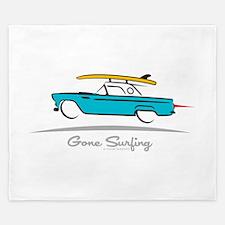 Ford Thunderbird Gone Surfing King Duvet