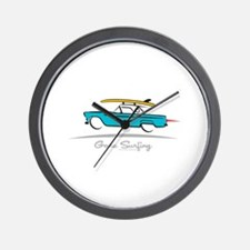 Ford Thunderbird Gone Surfing Wall Clock