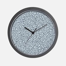 Encrusted Diamonds Look Glitter Pattern Wall Clock