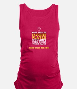Mom's favorite baseball player Maternity Tank Top