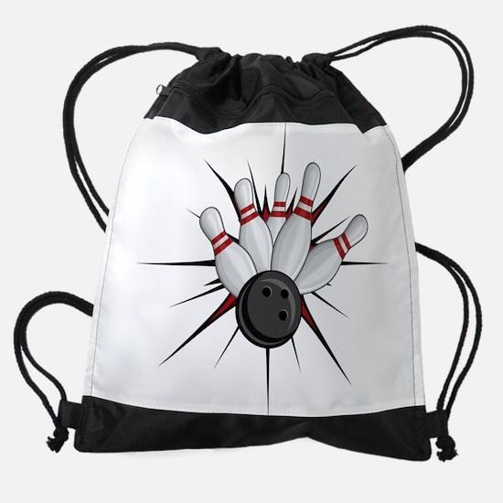 Bowling Strike Drawstring Bag