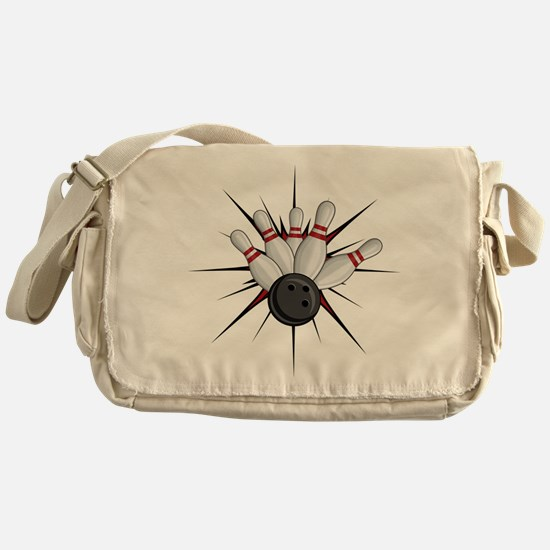 Bowling Strike Messenger Bag