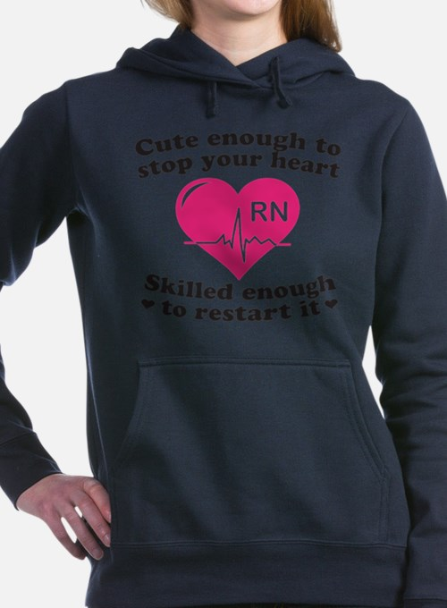 Cute Funny nurse Women's Hooded Sweatshirt