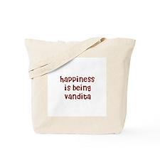 happiness is being Vandita Tote Bag