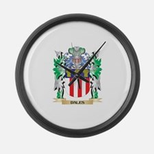 Dales Coat of Arms (Family Crest) Large Wall Clock