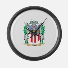 Dale Coat of Arms (Family Crest) Large Wall Clock