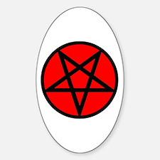 Pentagram Oval Decal