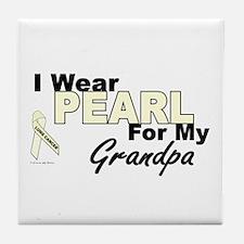 I Wear Pearl 3 (Grandpa LC) Tile Coaster