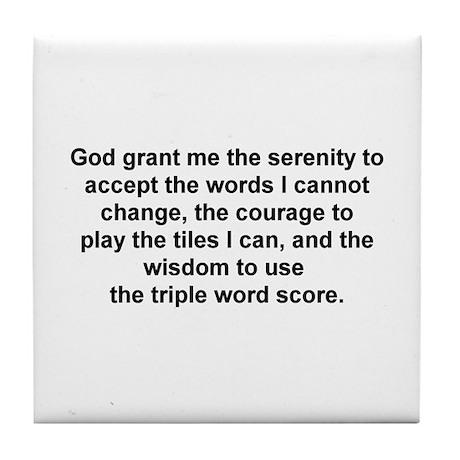 Scrabble Serenity Prayer Tile Coaster