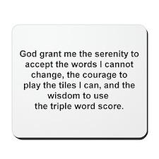 Scrabble Serenity Prayer Mousepad