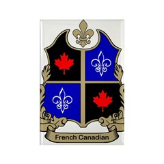 French-Canadian Shield Rectangle Magnet (100 pack)