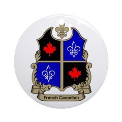 French-Canadian Shield Ornament (Round)