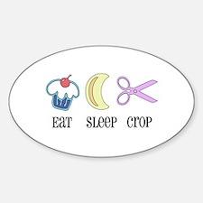 Eat Sleep Scrap Oval Decal