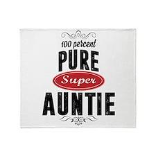 100 percent pure super auntie Throw Blanket