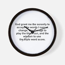 Scrabble Serenity Prayer Wall Clock