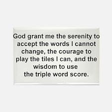 Scrabble Serenity Prayer Rectangle Magnet
