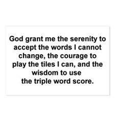 Scrabble Serenity Prayer Postcards (Package of 8)