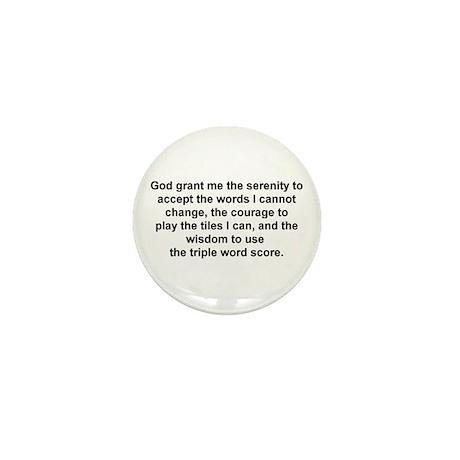 Scrabble Serenity Prayer Mini Button (10 pack)
