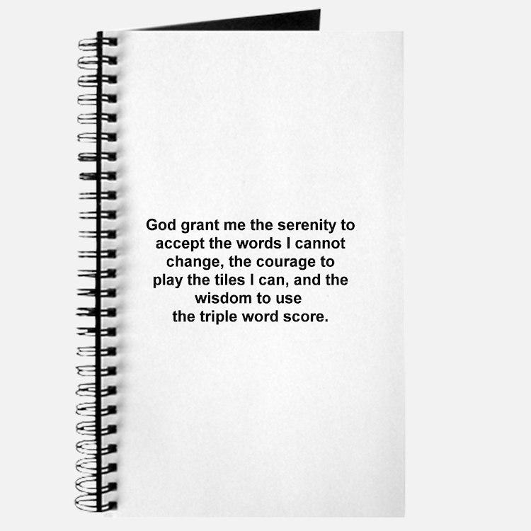 Scrabble Serenity Prayer Journal