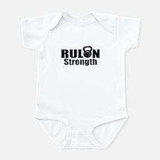 Cute Rulon strength logo Infant Bodysuit