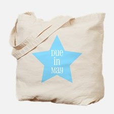 Boy Due in May Tote Bag