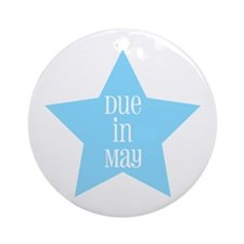 Boy Due in May Ornament (Round)