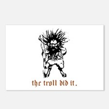 Troll Postcards (Package of 8)