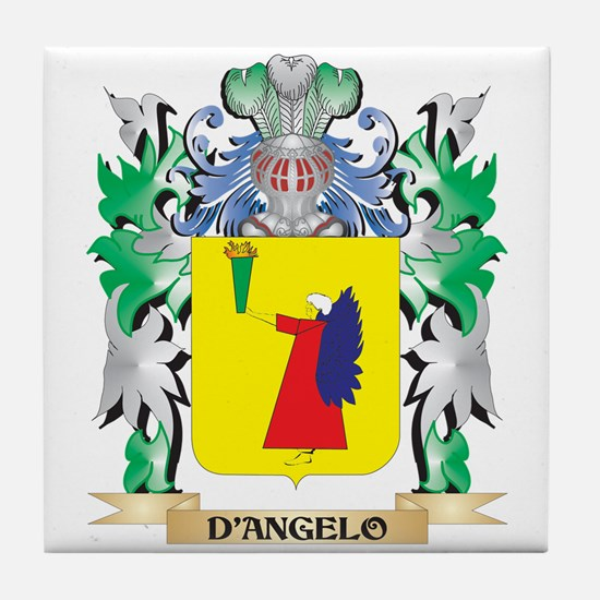 D'Angelo Coat of Arms (Family Crest) Tile Coaster