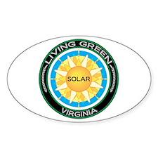 Living Green Virginia Solar Energy Oval Decal