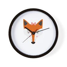 Fox female Wall Clock