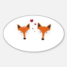 Fox in love Decal