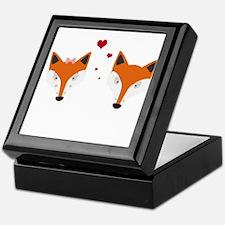 Fox in love Keepsake Box