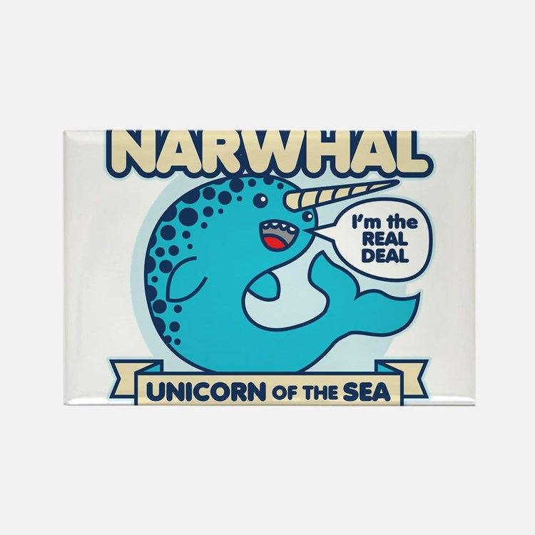 Cute Narwhals Rectangle Magnet